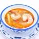 Potage crabe et asperges