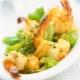 Crevettes aux brocolis